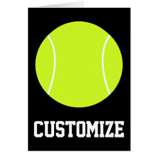 Tennis Ball Custom Text & Color Greeting Card