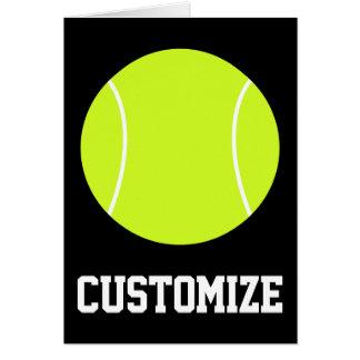 Tennis Ball Custom Text & Colour Greeting Card