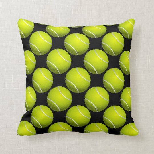 Tennis Ball Design Throw Pillow