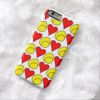 Tennis Ball + Heart iPhone Case Barely There iPhone 6 Case