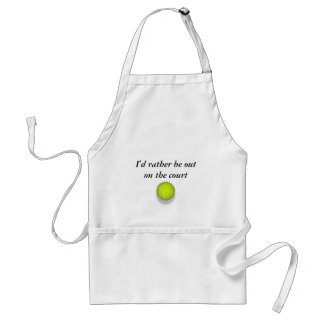 tennis_ball, I'd rather be out on the court Standard Apron