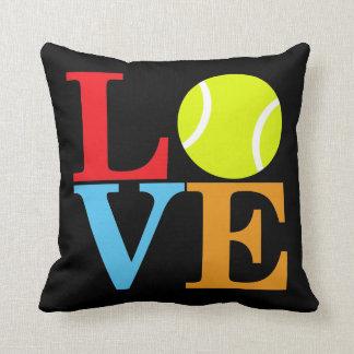 Tennis Ball LOVE Throw Pillow