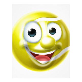 Tennis Ball Man Cartoon Character Letterhead