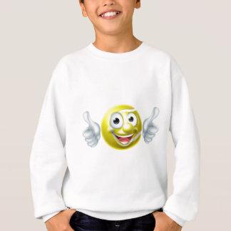 Tennis Ball Man Cartoon Character Sweatshirt