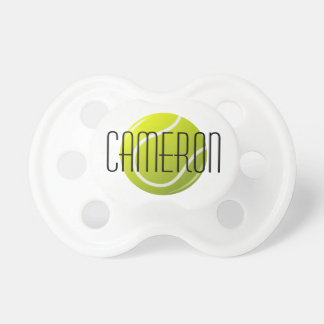 Tennis ball personalized name pacifier