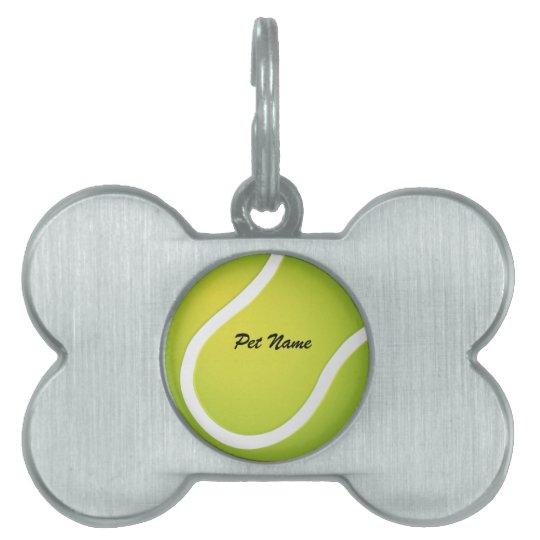 Tennis Ball Pet Name Template Pet Tag