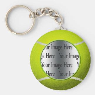 tennis ball photo basic round button keychain