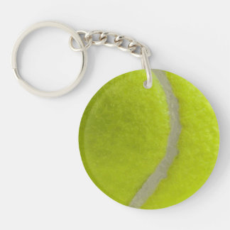 Tennis Ball Print Pattern Background Keychain