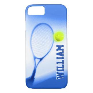 Tennis ball racket sports blue iPhone case