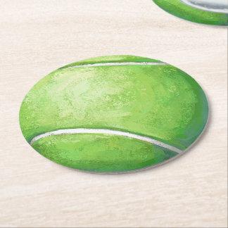 Tennis Ball Round Paper Coaster