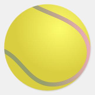 Tennis Ball Round Sticker