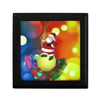 Tennis ball Santa and bells. Gift Box
