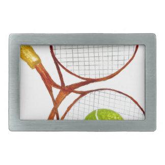 Tennis Ball Sketch2 Rectangular Belt Buckle