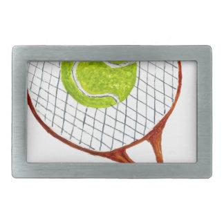 Tennis Ball Sketch3 Belt Buckles