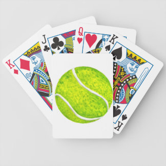 Tennis Ball Sketch4 Bicycle Playing Cards