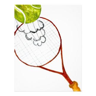 Tennis Ball Sketch Letterhead