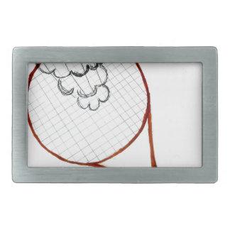 Tennis Ball Sketch Rectangular Belt Buckles