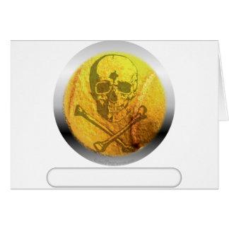Tennis Ball Skull and Crossbones Card