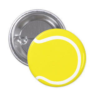 Tennis Ball Small, 1¼ Inch Round Button