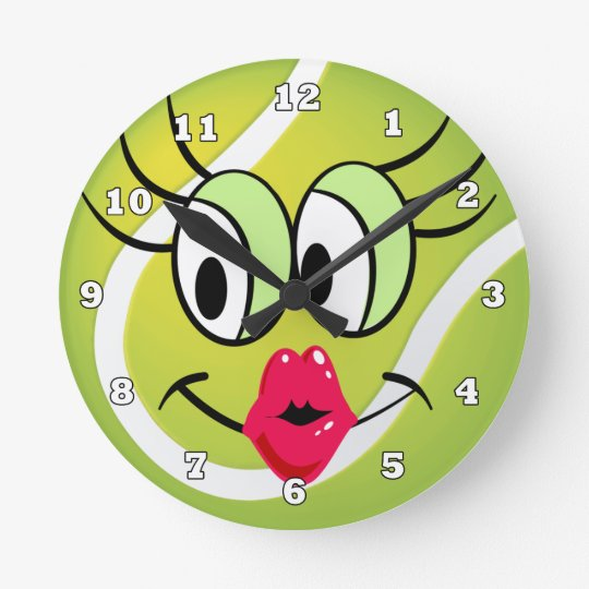 Tennis Ball Sports clock