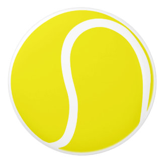 Tennis ball sports handle knob ceramic knob