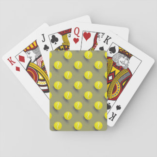 Tennis ball, tennis player playing cards