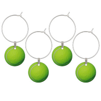 Tennis Ball Theme Adult Party Ideas Wine Glass Charm