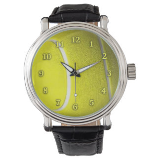 Tennis Ball with Neon Yellow Numbers Wristwatch