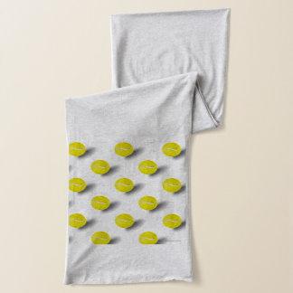 Tennis balls pattern scarf