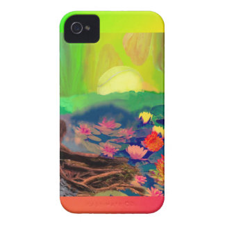 Tennis balls showed up among lilies on the pond. iPhone 4 Case-Mate cases