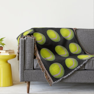 Tennis_Balls,_Wovan_Throw_Blanket Throw Blanket