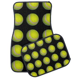 Tennis,_Balls,_Yellow_Black,_Car_Mat_Set_(4) Car Floor Carpet