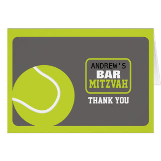 TENNIS Bar Mitzvah Invitation Thank You Card