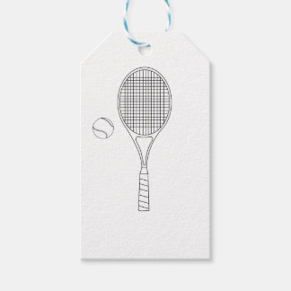 Tennis Bat & Ball Gift Tag Pack Of Gift Tags