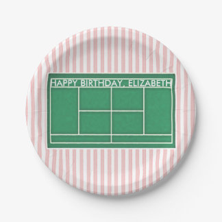 Tennis Birthday Paper Plate