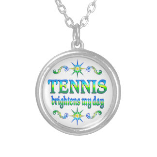Tennis Brightens Silver Plated Necklace