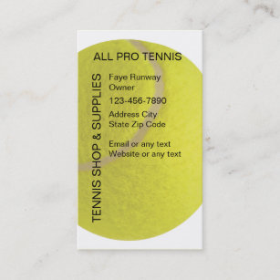 Tennis pro business cards profile cards zazzle ca tennis business cards colourmoves