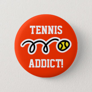 Tennis button for players and fans Tennis Addict