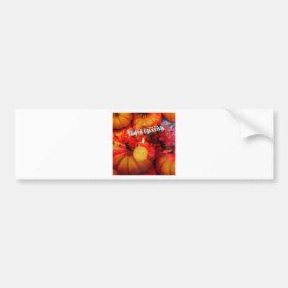 Tennis , candle and pumpkins bumper sticker