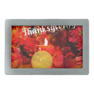 Tennis , candle and pumpkins rectangular belt buckle