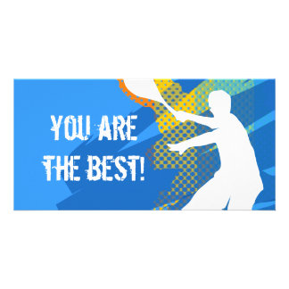 Tennis card: you are the best picture card