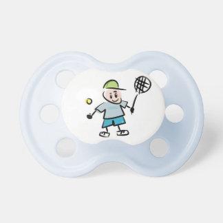 Tennis cartoon pacifier / soothers dummies binkies