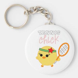 Tennis Chick Soychick Keychain