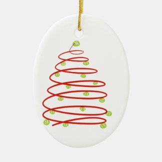 Tennis Chrismas Ceramic Ornament