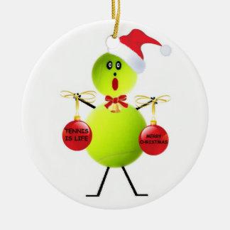 Tennis Christmas Ceramic Ornament