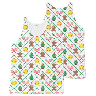 Tennis Christmas pattern All-Over-Print Tank Top