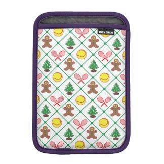 Tennis Christmas pattern iPad Mini Sleeve