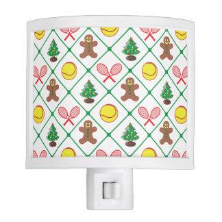 Tennis Christmas pattern Nite Light