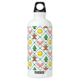 Tennis Christmas pattern Water Bottle