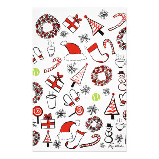 Tennis Christmas Stationery